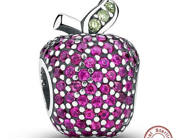 Apple Fancy Crystal Charm