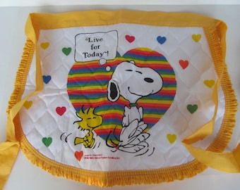Snoopy Apron - United Feature - Live for Today - Vintage Snoopy