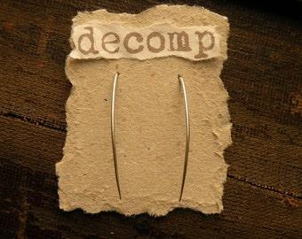 Fangs sterling silver earrings tapered sleek modern vampire simple simplistic minimalistic wire halloween