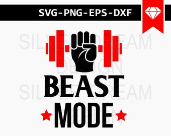 beast mode svg, gym svg, gym motivation svg, beast svg, weight fitness svg, svg files for silhouette cameo, cut files, cricut downloads, dxf