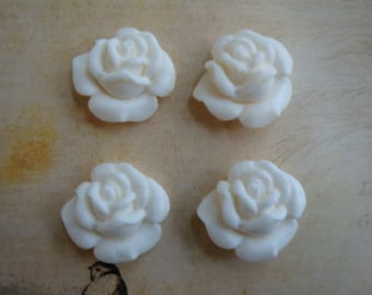 Shabby & Chic Small Roses 4 pcs. Furniture Applique Architectural Onlay