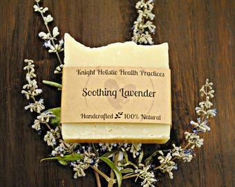 All Natural Soothing Lavender Soap