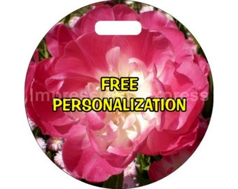Double Tulip Flower Personalized Luggage Bag Tag