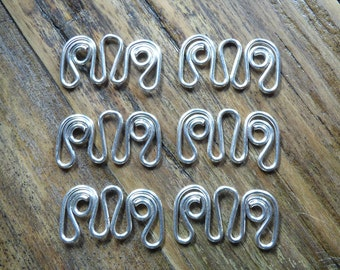 Silver hangers multi ends, 6pcs in silver plated 20ga wire, hand crafted jewelry findings, chandelier style earring findings, more available