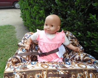 Western print baby shopping cart cover/ high chair cover