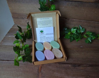Vegan Cold Process Guest Soaps 120g - Handmade Natural Soap Gift Box - Travel Soap Pack - Birthday Gift Soap - Shea Butter Soap - Made in UK