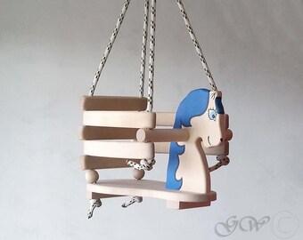 Wooden Handmade Horse Swing, Baby Swing, Handmade Children Toys