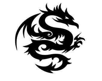 Dragon Decal, Yeti Decal, Decal, tribal dragon stickers