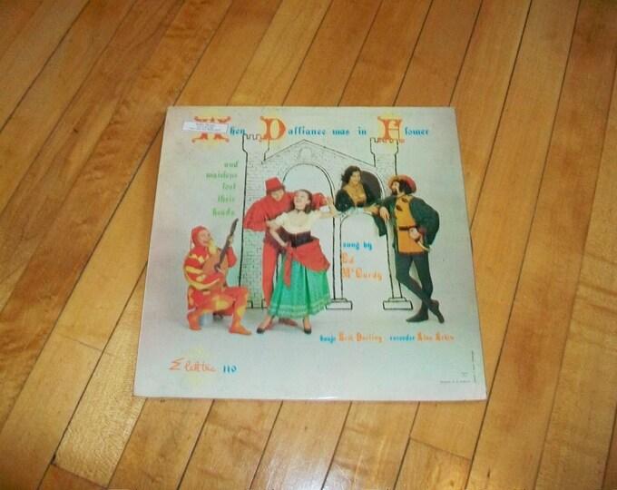 When Dalliance Was In Flower Record Album Vintage 1950s M-987