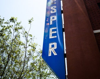 Oklahoma City - Neon Sign - Buildings - Automobile Alley - Architecture - Downtown - Vesper Neon Sign