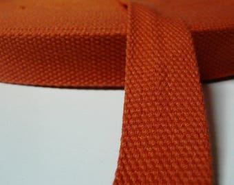 Orange cotton, 25 mm webbing