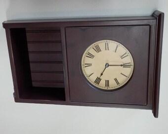 Primitive Homestead display Clock,wall clock,farmhouse.