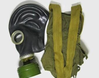 Vintage Soviet Gas mask GP-5 / Russian Original Gas mask / Halloween mask