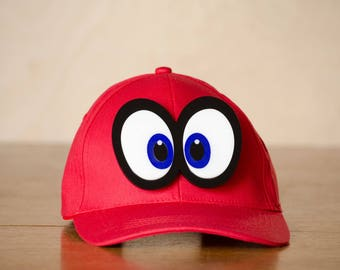 Hat Eyes Pin inspired by Mario and Cappy