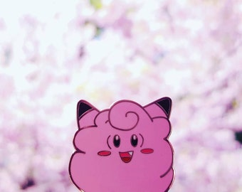 Clefairy Floss Enamel Pin