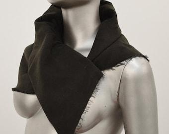 Organic Cotton Moleskin Asymmetrical Collar Neck Warmer