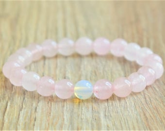 fertility bracelet rose quartz bracelet womens stone bracelet fertility jewelry moonstone bracelet beaded bracelet for her fertility gifts