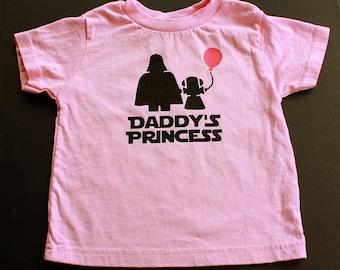 Princesse enfant T Shirt papa - chemise rose