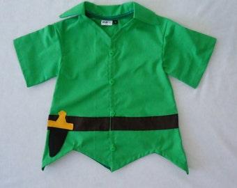 Peter Pan Top - Peter Pan Costume - Neverland - Birthday Costume - Cruise - Halloween Outfit- Peter Pan Costume - toddler costume