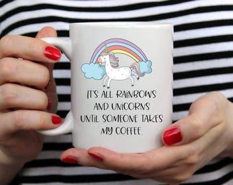 Unicorn Mug, Coffee Mug, Unicorn, Birthday Gift, Coworker Gift, Mom Mug, Coffee Mugs