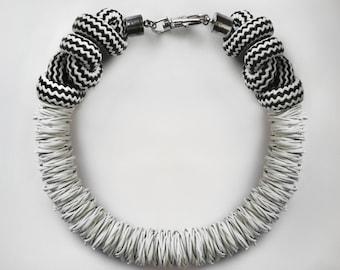 White Rubber Necklace