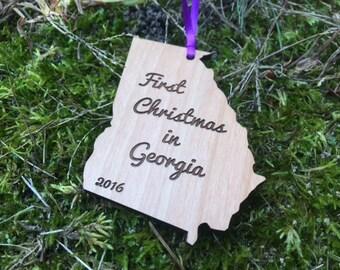 Georgia State Ornament