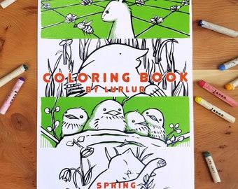 Coloring book spring