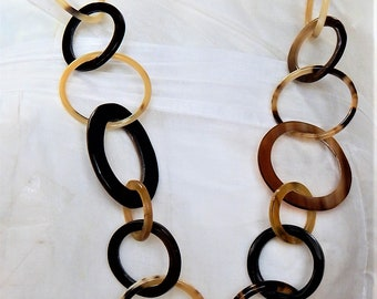 HANDMADE Organic Necklace Buffalo Horn  VHNS723