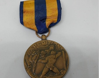Spring Sale Vintage post WW2 US Navy Expedition Medal
