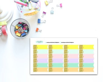 Confetti Glitter Border Banner Flags Planner, Penpal and Journalling Stickers