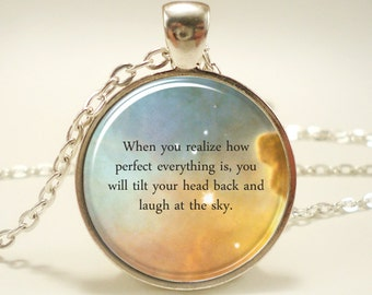 Custom Quote Necklace, Personalized Jewelry For Poem Or Text, Song Lyric Necklace, Personalized Memorial Jewelry (1730S1IN)