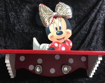 Minnie Mouse decor  - minnie mouse - mickey mouse - girls shelf - kids furniture - kids room decor  - Minnie Mouse room decor