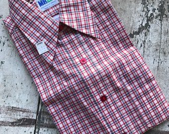 Vintage plaid button up shirt