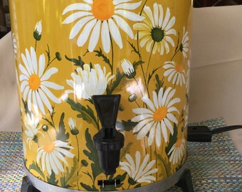 Sears Roebuck Vintage Coffee Maker Brewer Percolator Daisy Design Retro