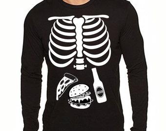 Halloween Mens Shirt Tshirt and Skeleton Pants Costume - Includes Shirt and Pants WurjsHAL