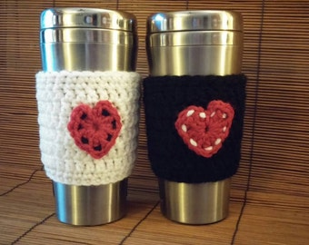 Heart Coffee Mug Cozy (set of 2)