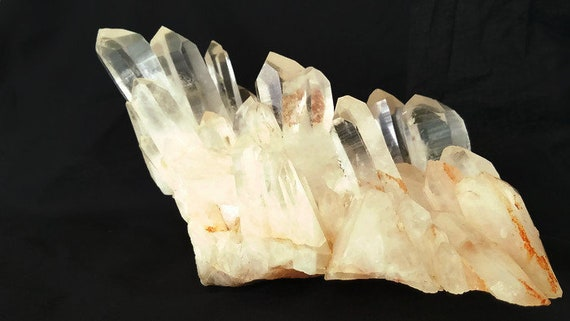 Large Clear Red Quartz Cluster with Dow, Transmitter and Channeling Points. 3lb 2.6 oz.