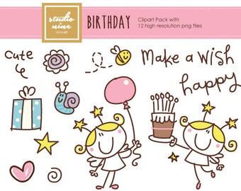 Birthday Clipart Set