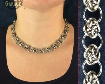 Four Winds Weave - Chainmaille Necklace - Adjustable!