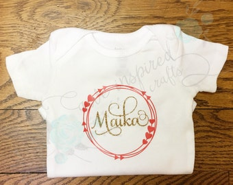 Personalized bodysuit, custom baby outfit, coming home outfit, baby shower gift, new baby gift, gift for new mom, baby girl outfit