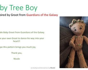 Baby Tree Boy Pattern inspired by Groot