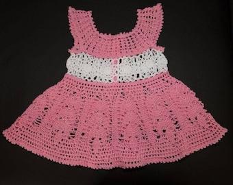 Handmade crochet baby dress size 1 year