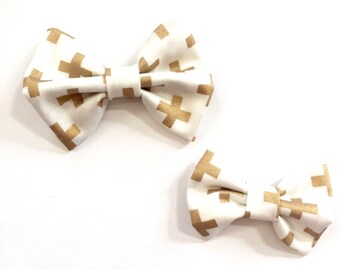 Gold Plus Fabric Bow