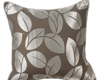 Decorative Throw Pillow Covers Couch Pillows Sofa Bed Pillow Toss Pillow 16 x 16 Grey Pillow Case Bedding - Frosted Leaves