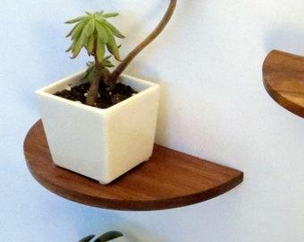 Ten inch half round floating shelf
