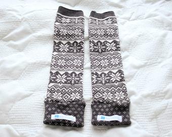 Grey Snowflake Baby Leg Warmers | Baby Leggings | Toddler Leggings | Baby Gifts | Leggings | Baby Pants | Gender Neutral | Winter Snowflake