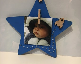 Boys blue star magnet