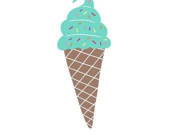 Ice cream sprinkles print