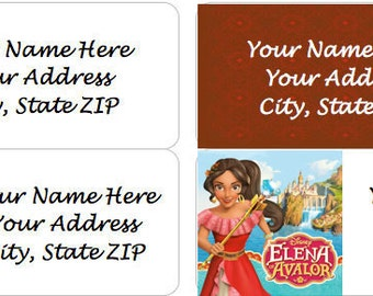 Disney's ELENA OF AVALOR Personalized Address Labels - 4 Designs Available!
