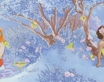 The Mermaid in Rehoboth Bay: Night Scene, Fine Art Print